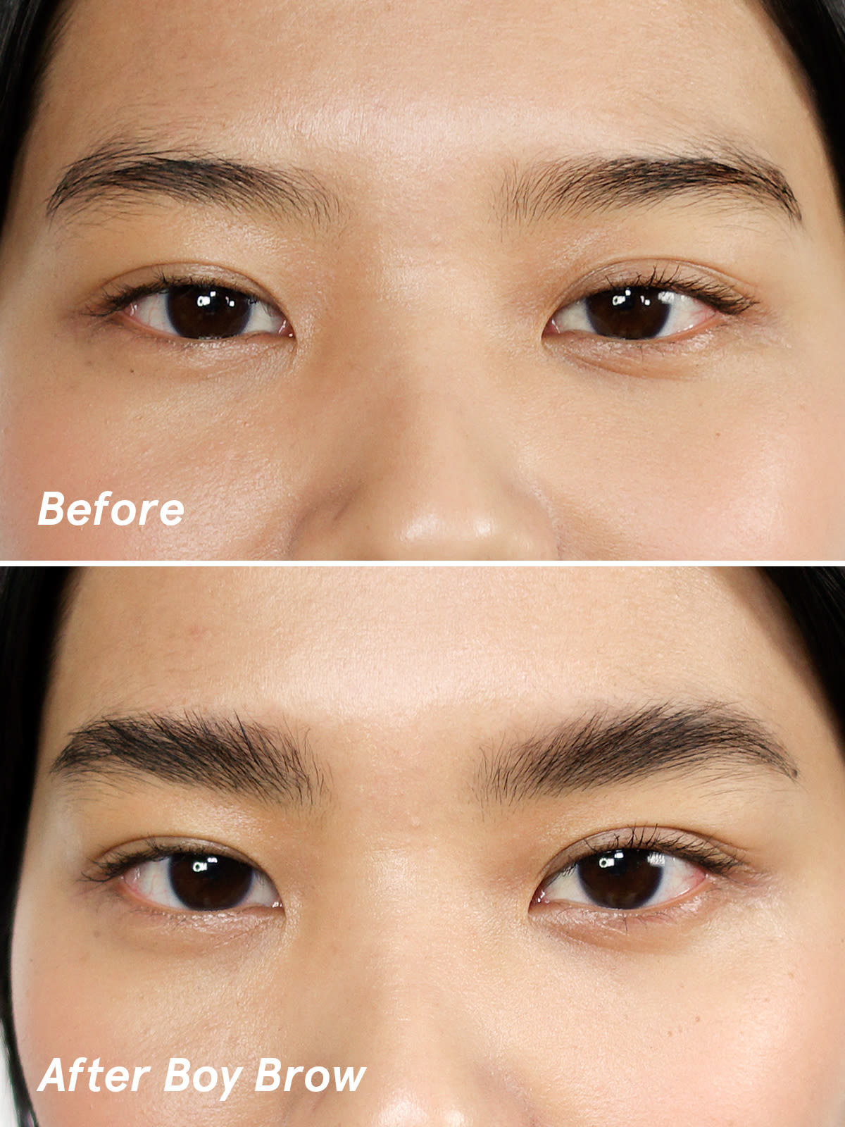 A model using the Boy Brow in black