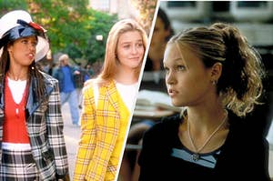 """Dionne and Cher from """"Clueless"""" are on the left with Kat from """"Clueless"""" on the right"""