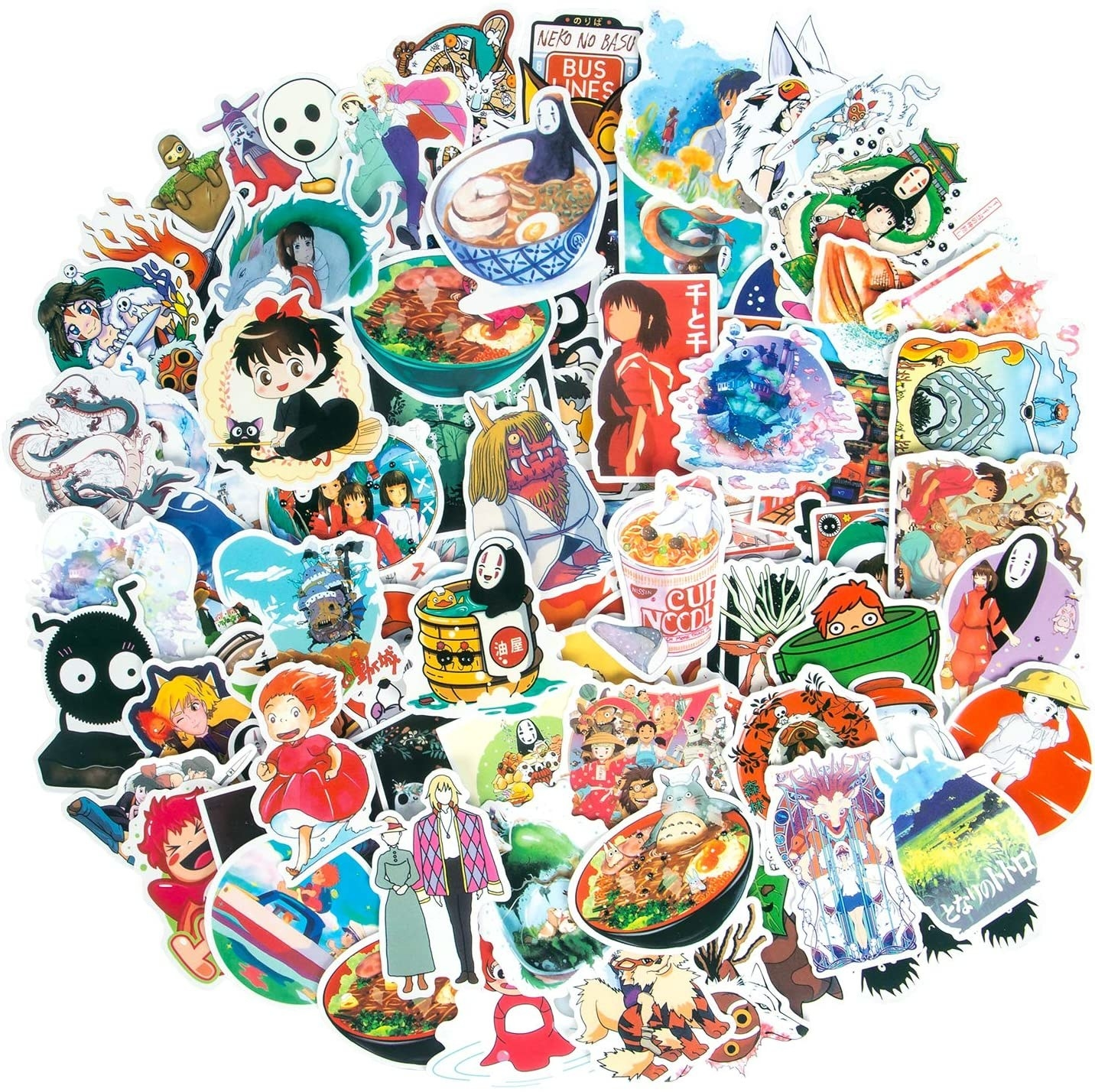 a pile of stickers