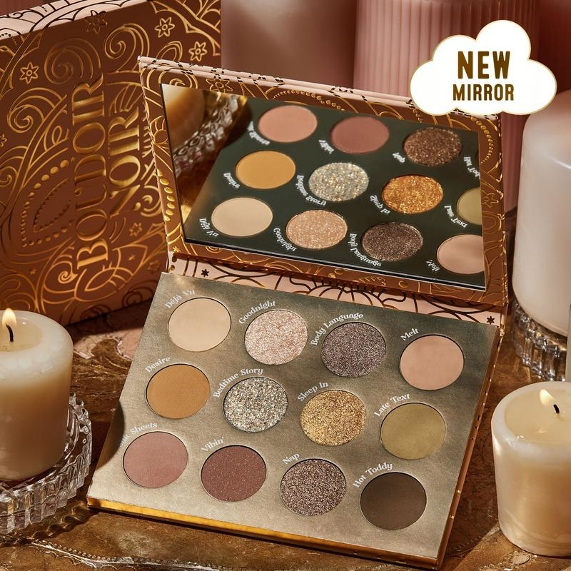 the gold eyeshadow palette with neutral shades