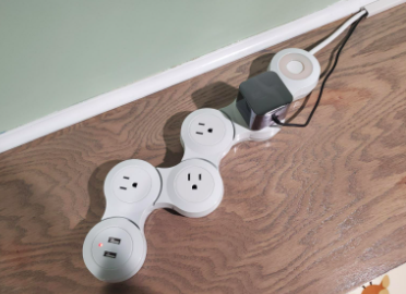 power strip bent to show how it moves
