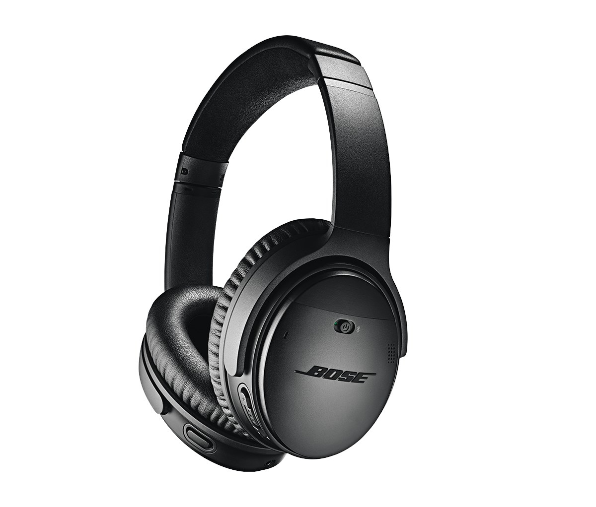 The black over-ear headphones