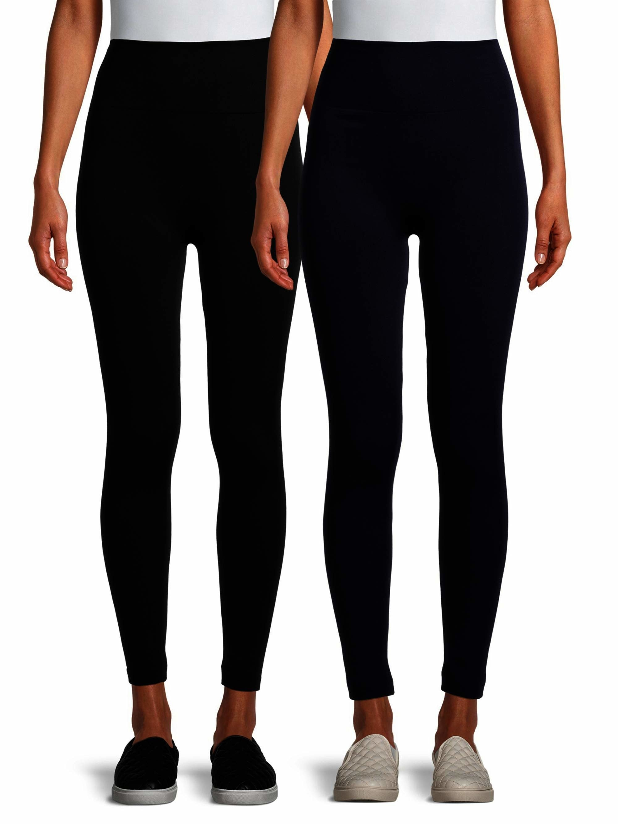Two models wearing the black leggings