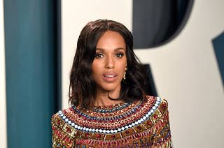 Kerry Washington attends the 2020 Vanity Fair Oscar Party hosted by Radhika Jones at Wallis Annenberg Center for the Performing Arts on February 09, 2020 in Beverly Hills, California