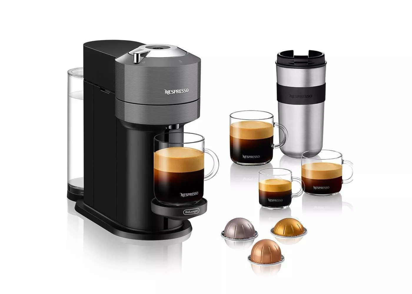 The Nespresso Vertuo coffee and espresso maker