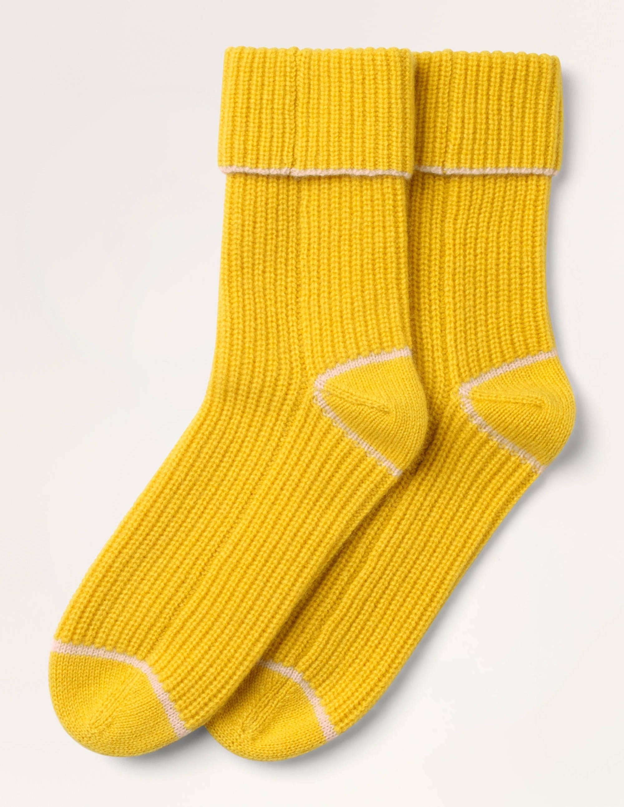 Long knitted cashmere socks