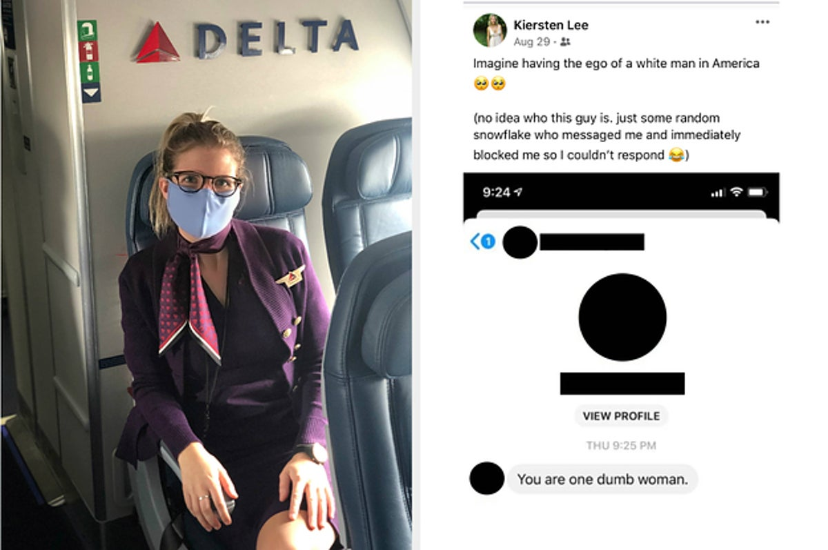 Delta Fired A Flight Attendant After She Posted A Screenshot Of A Random Guy Harassing Her On Facebook