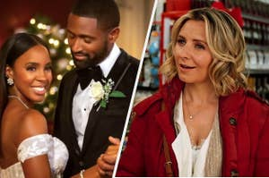 side by side promo images of Merry Liddle Christmas Wedding and Candy Cane Christmas