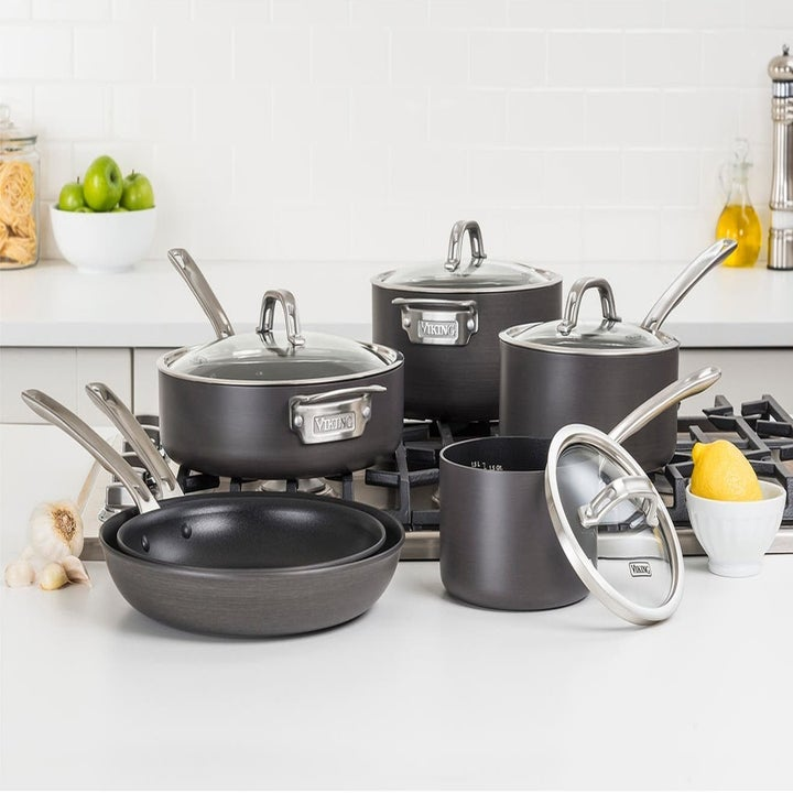 set of five pots and pans