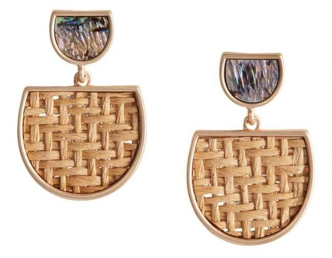 The rattan drop earrings