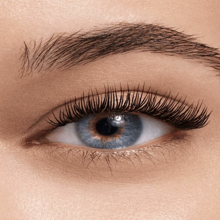 Close-up of model wearing High Impact mascara