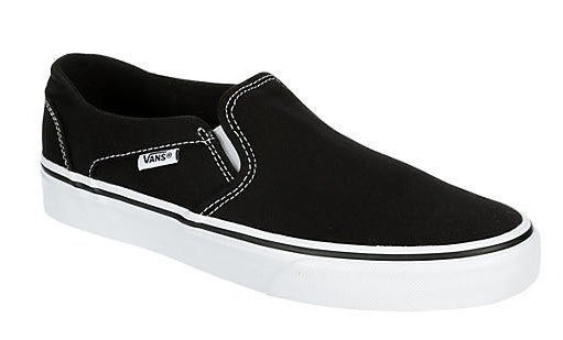 the black Van sneakers