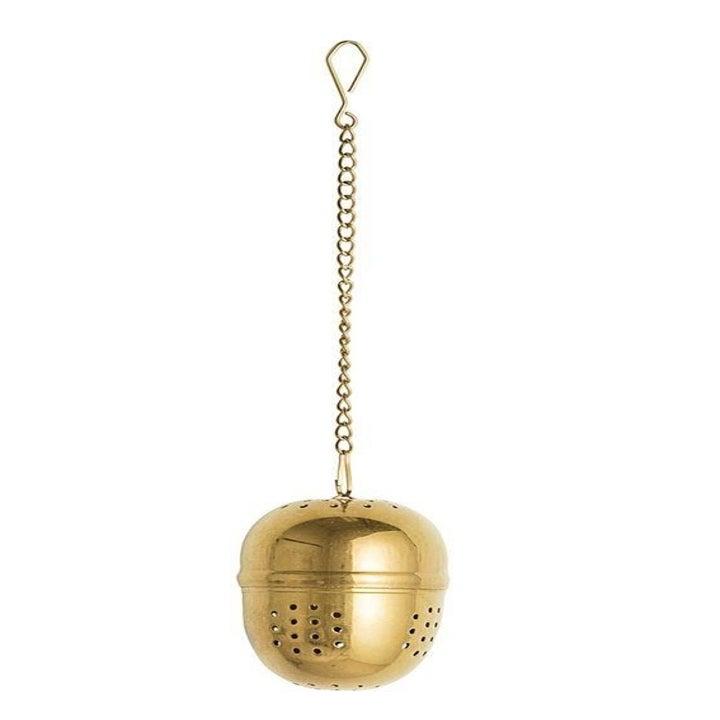 gold egg-shaped tea infuser