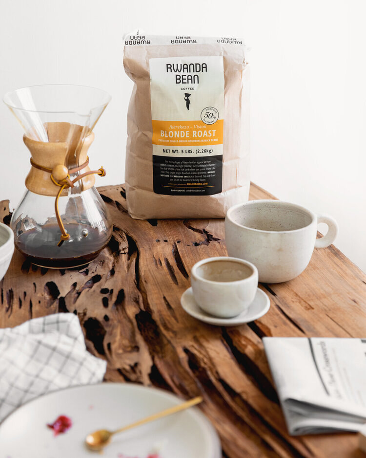 bag of coffee that says blonde roast
