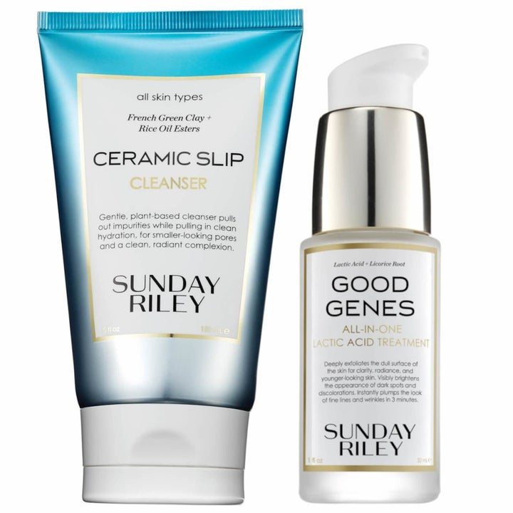 Sunday Riley Ceramic Slip cleanser and Good Genes lactic acid treatment