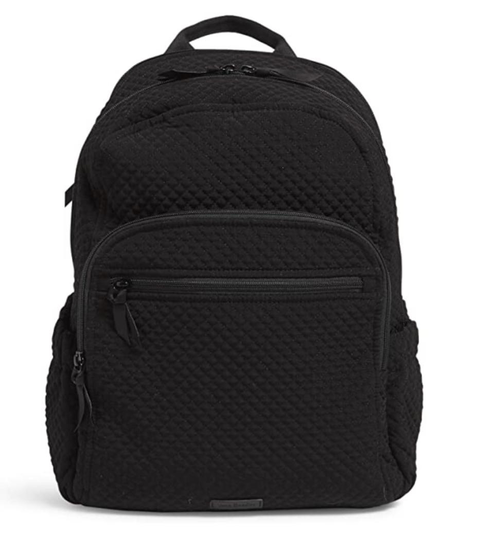 Black backpack with two front zippers