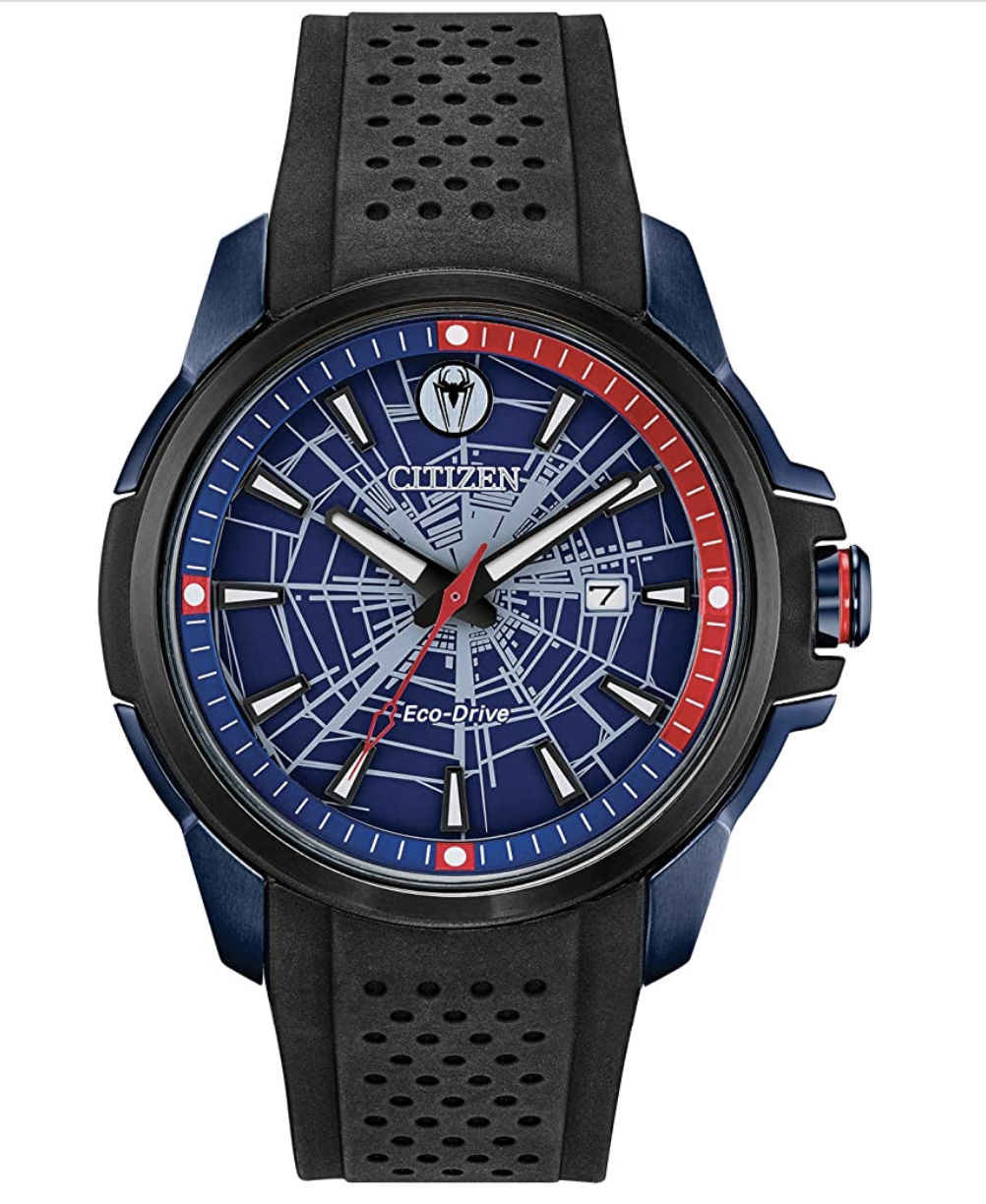 Spider-Man watch with black band