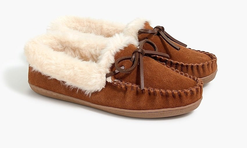The brown loafer style slippers