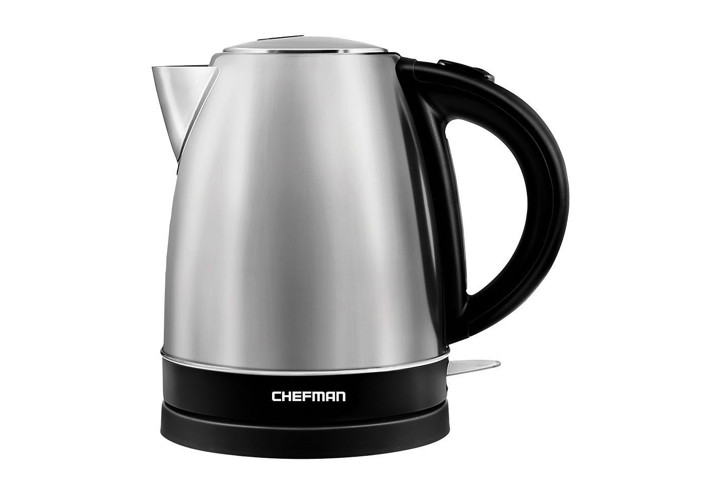 The silver electric kettle