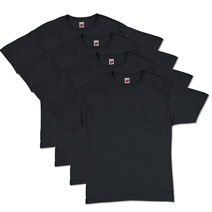 Four black t-shirts