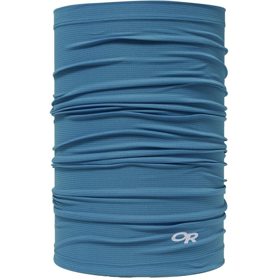 long blue neck gaiter