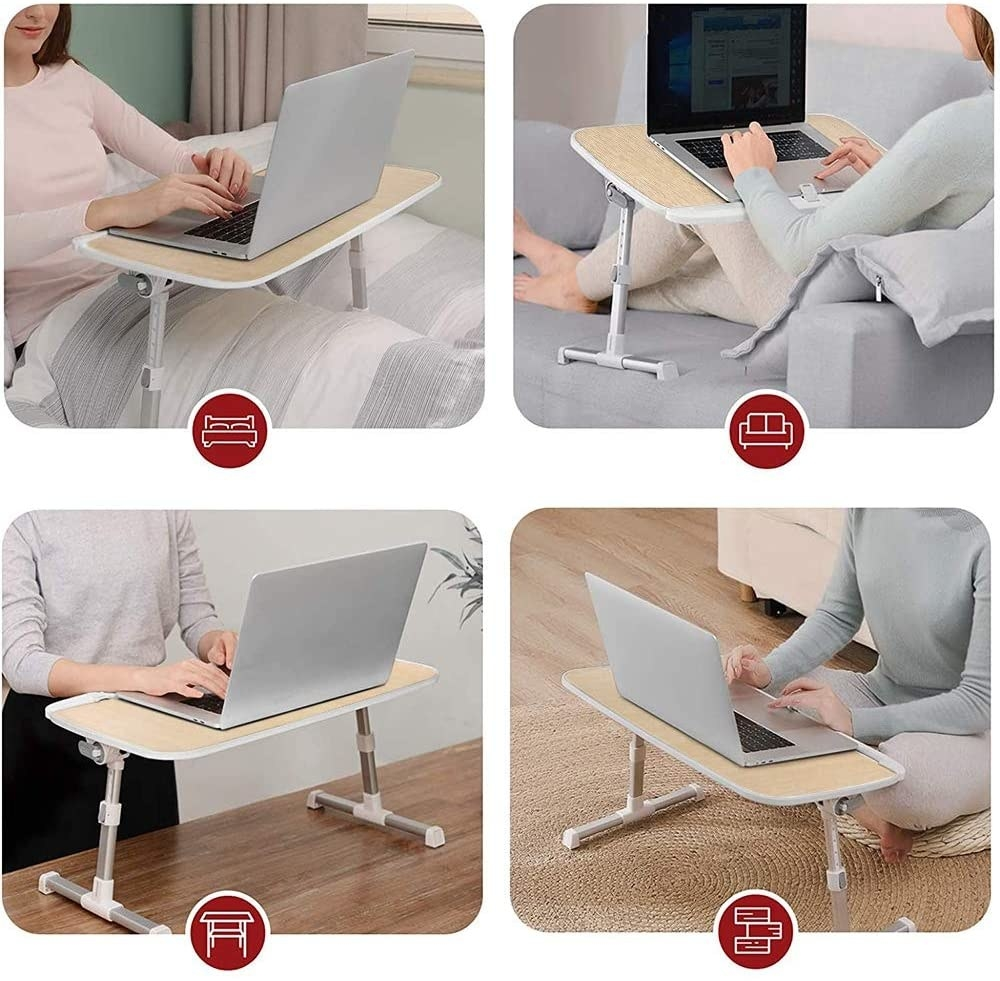 four positions/uses shown for the lap desk