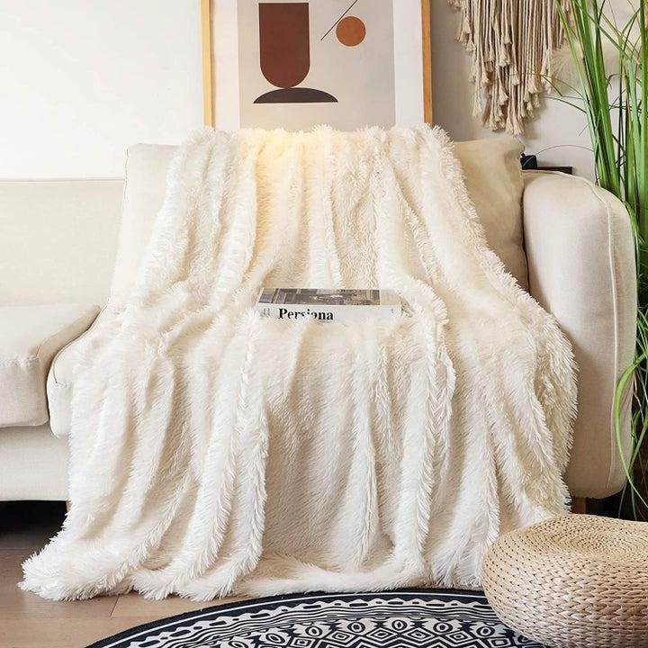 a white plush blanket