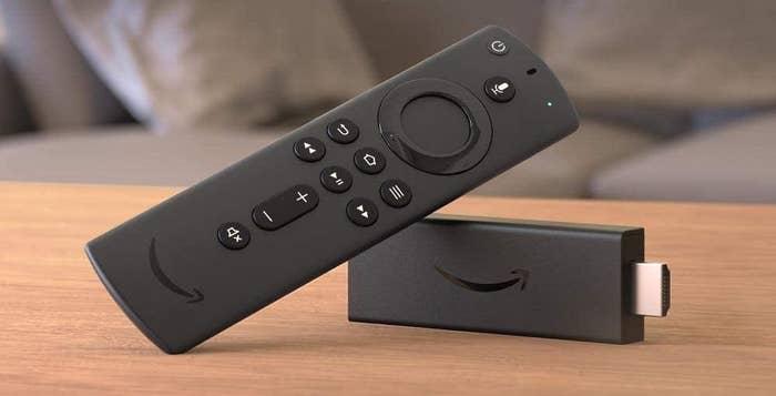 Amazon Fire TV stick on table