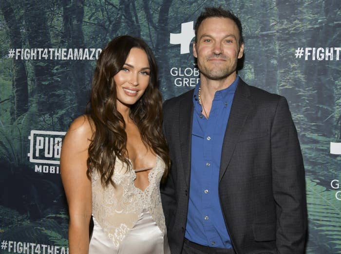 Megan Fox (L) and Brian Austin Green attend the PUBG Mobile's #FIGHT4THEAMAZON Event at Avalon Hollywood on December 09, 2019 in Los Angeles, California