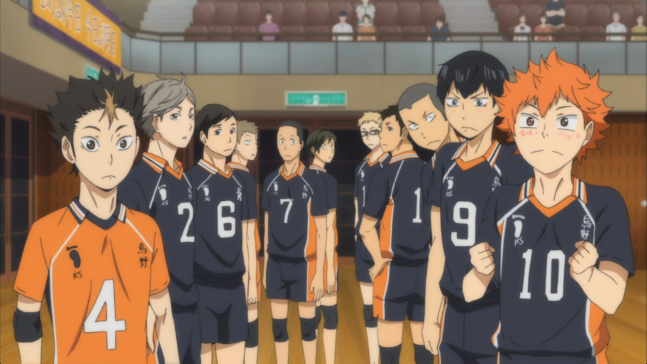Characters from Haikyuu!! who are on the Karasuno High School Volleyball team