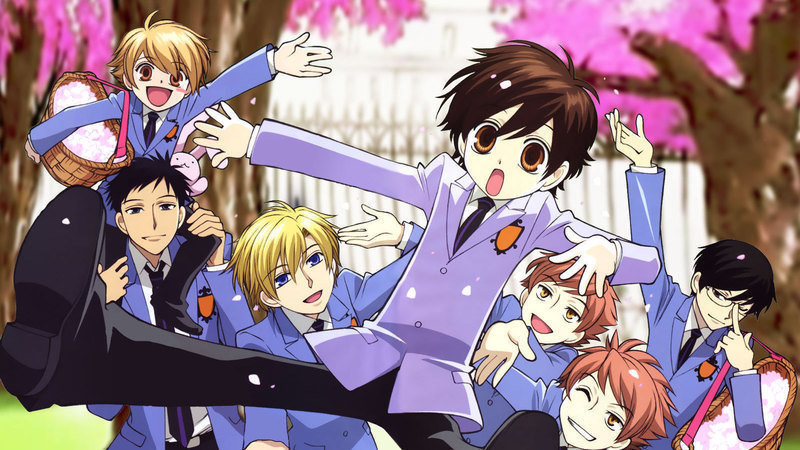 The characters of Ouran High School Host Club