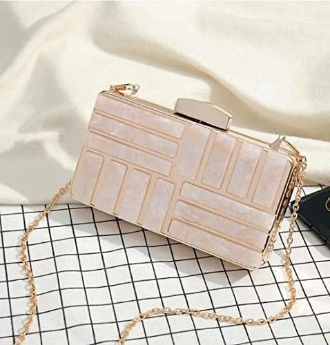 Rectangular gold geometric purse.
