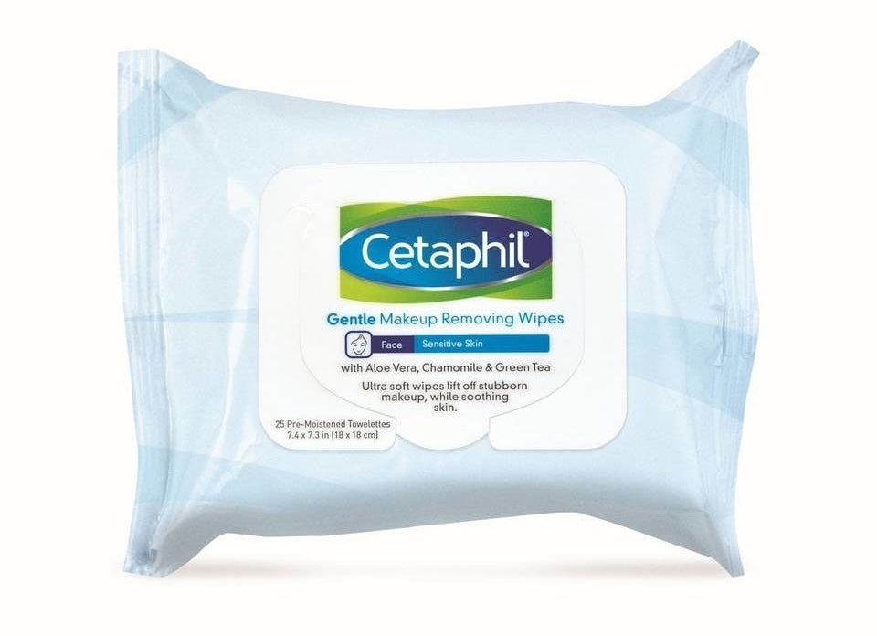 The blue and white Cetaphil packaging