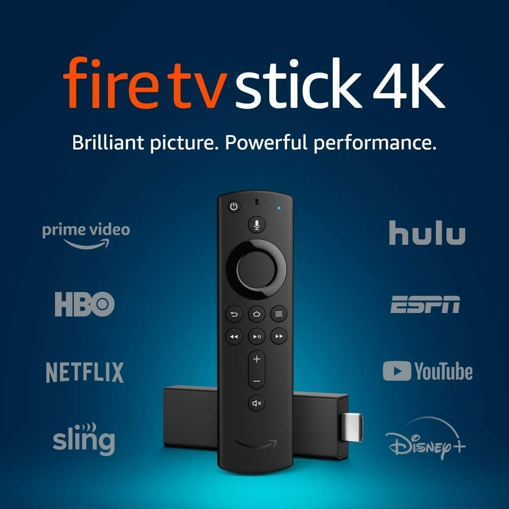 The hdmi stick and remote with streaming services