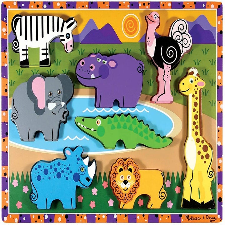 Chunky puzzle with animals