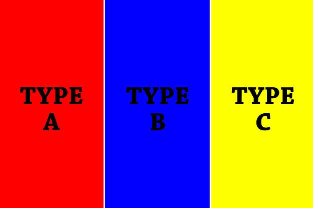 Bist du mehr Typ A, Typ B oder Typ C?