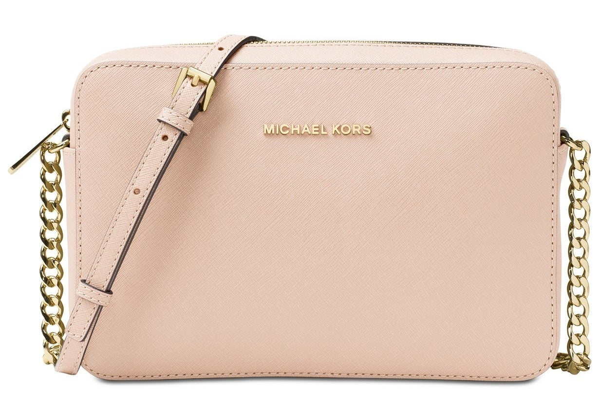 Michael Kors leather crossbody in soft pink/gold