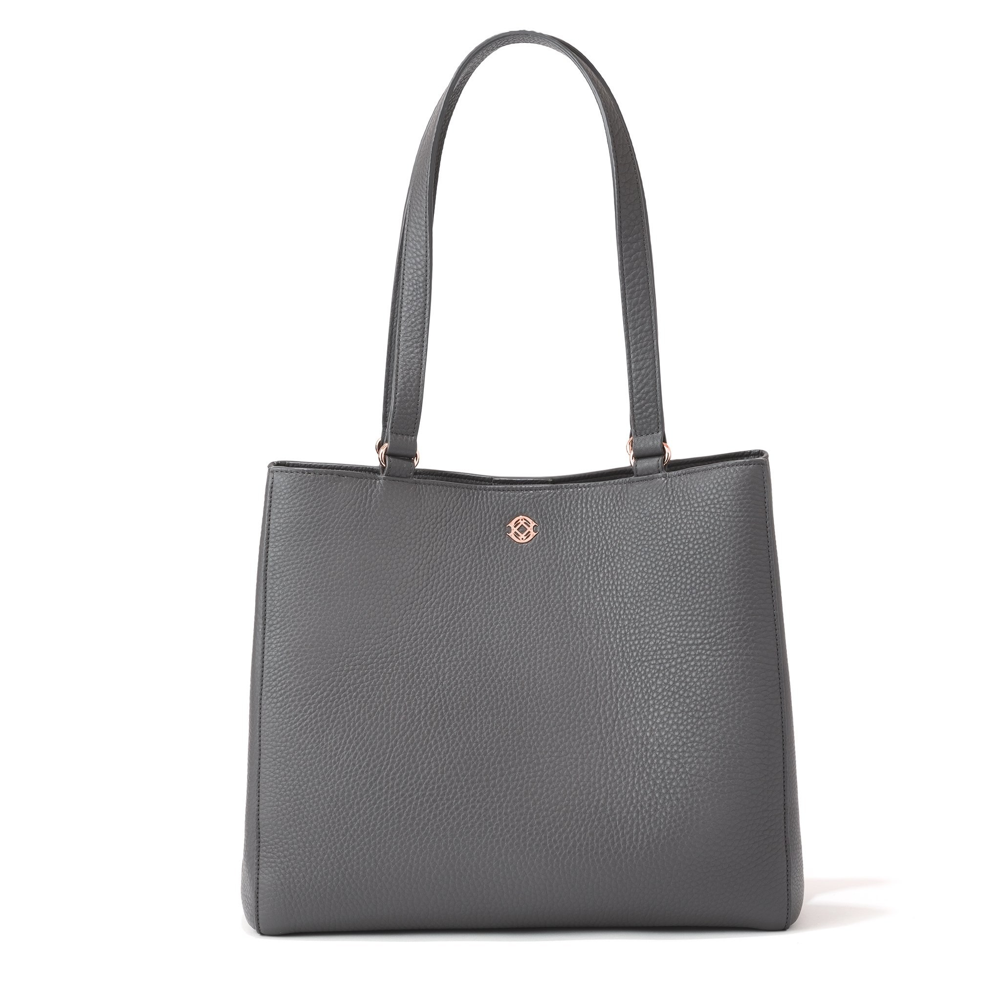 the gray tote bag