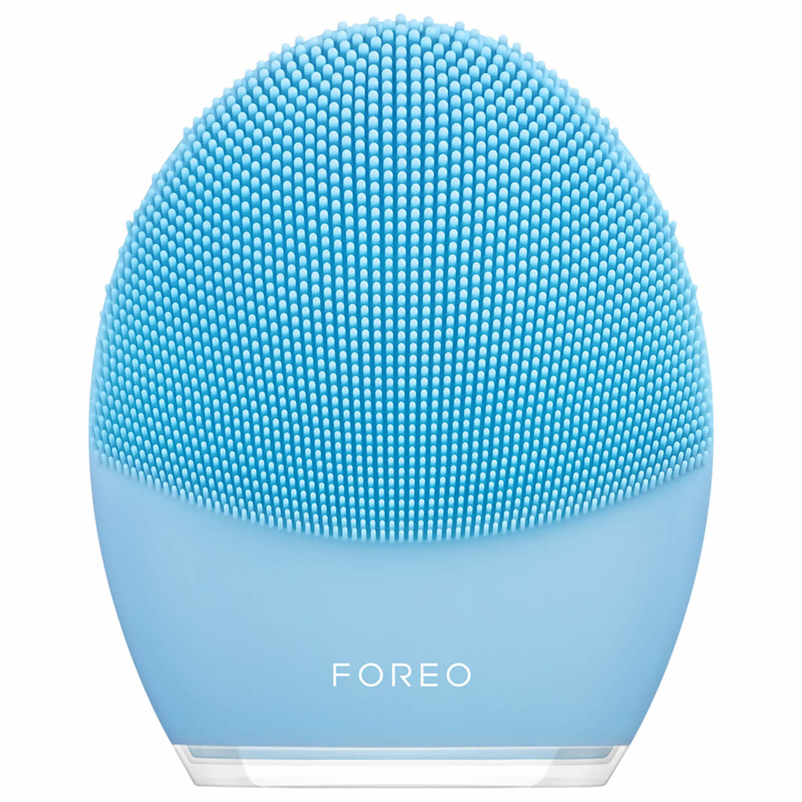 Blue silicone Foreo device