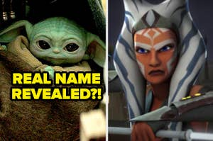 Baby Yoda with the question