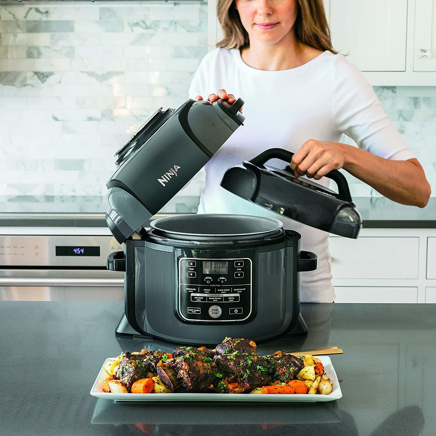 Make Space In Your Kitchen Because The Ninja Pressure Cooker Is 130 Off For Black Friday