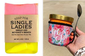 Soap for Single Ladies and an Pint-size Monogrammed Ice Cream Cozy