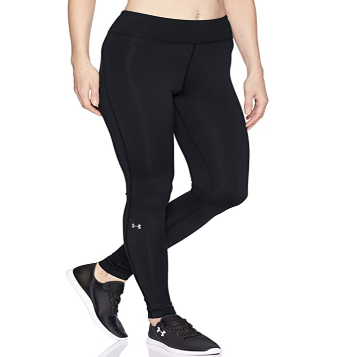 Model in black compressive leggings