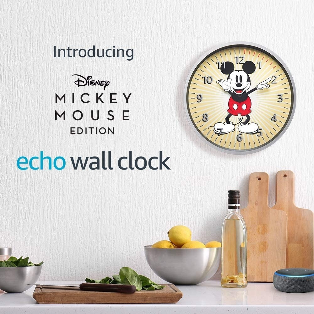 kitchen with Mickey Mouse wall clock