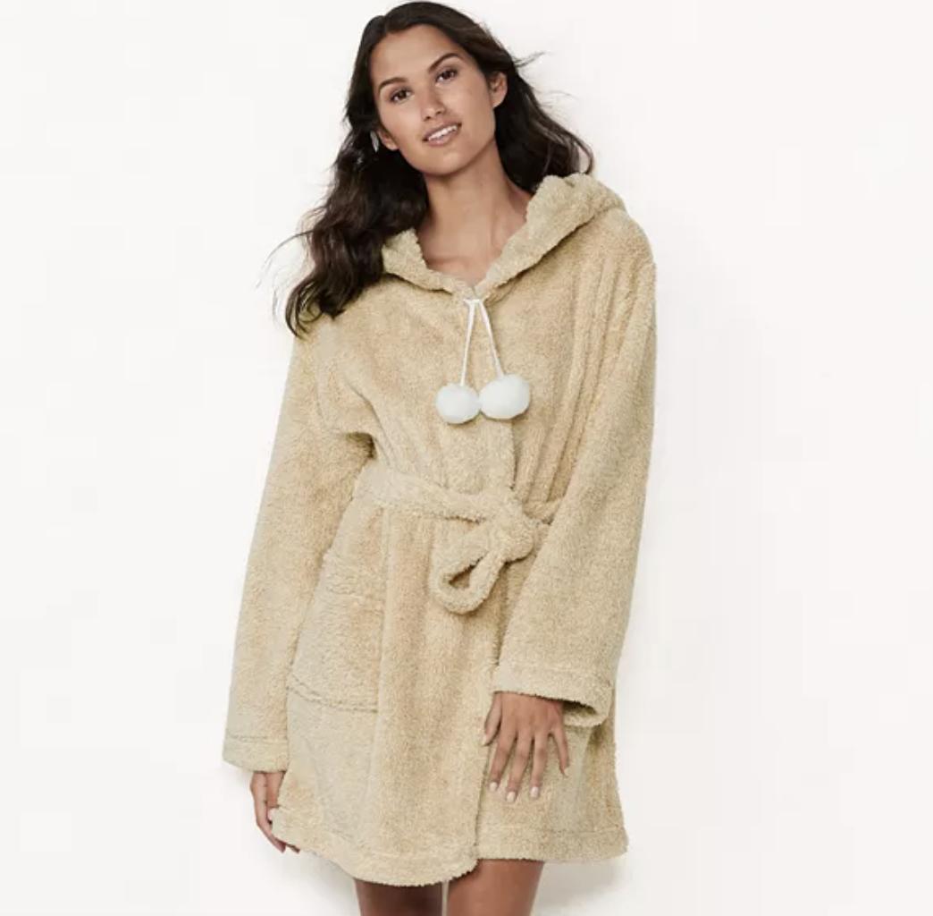 LC Lauren Conrad robe in ivory