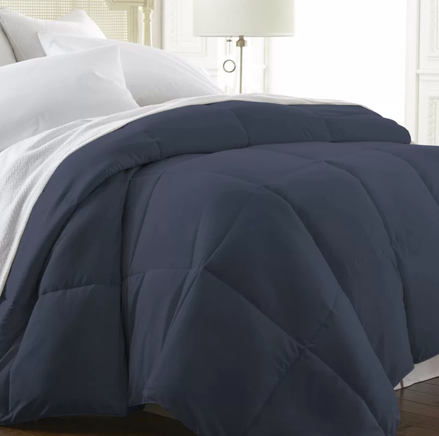 The alternative down comforter in navy