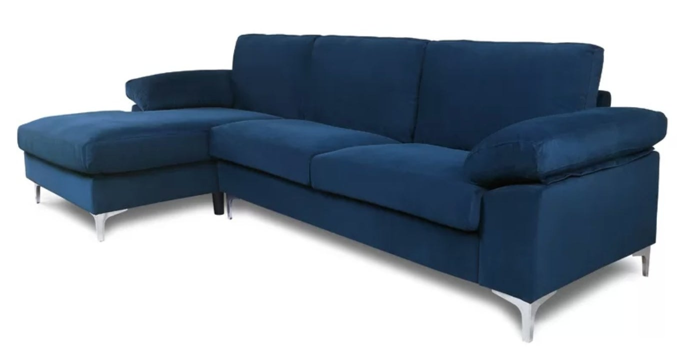 The modular sofa in blue