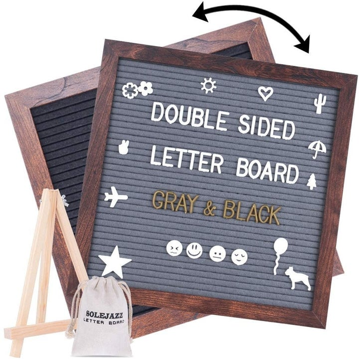 the board with letters