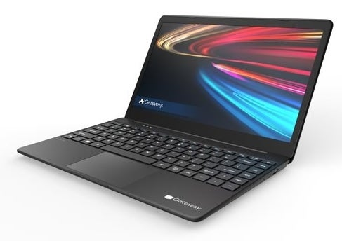 Gateway FHD Ultra Slim Notebook opened to reveal screen and keyboard
