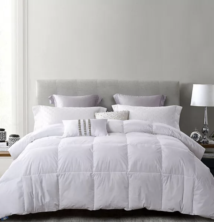 Serta white duck feather down comforter